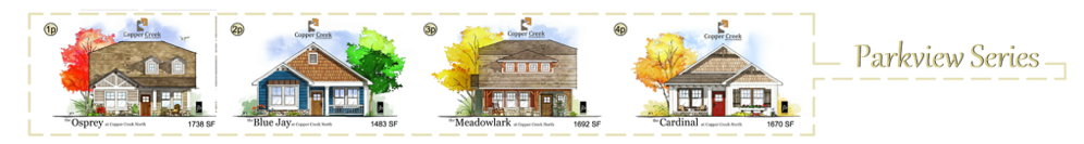 The Parkview Series new home construction floor plans in Grand Junction