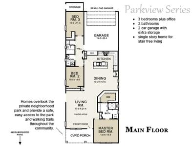 Cardinal Floor plan Parkview