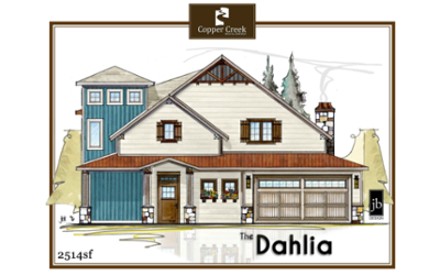 The Dahlia new home floor plan construction in Grand Junction