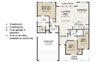 Larkspur-Floor Plan by Copper Creek Builders in Grand Junction Colorado