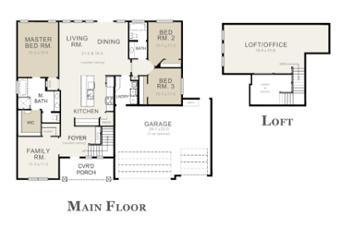 Primrose Floor Plan by Copper Creek Builders in Grand Junction Colorado