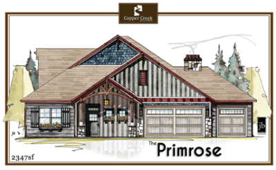 The Primrose Elevation new home floor plan construction in Grand Junction