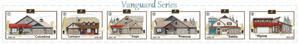 The Vanguard Series new home construction floor plans in Grand Junction